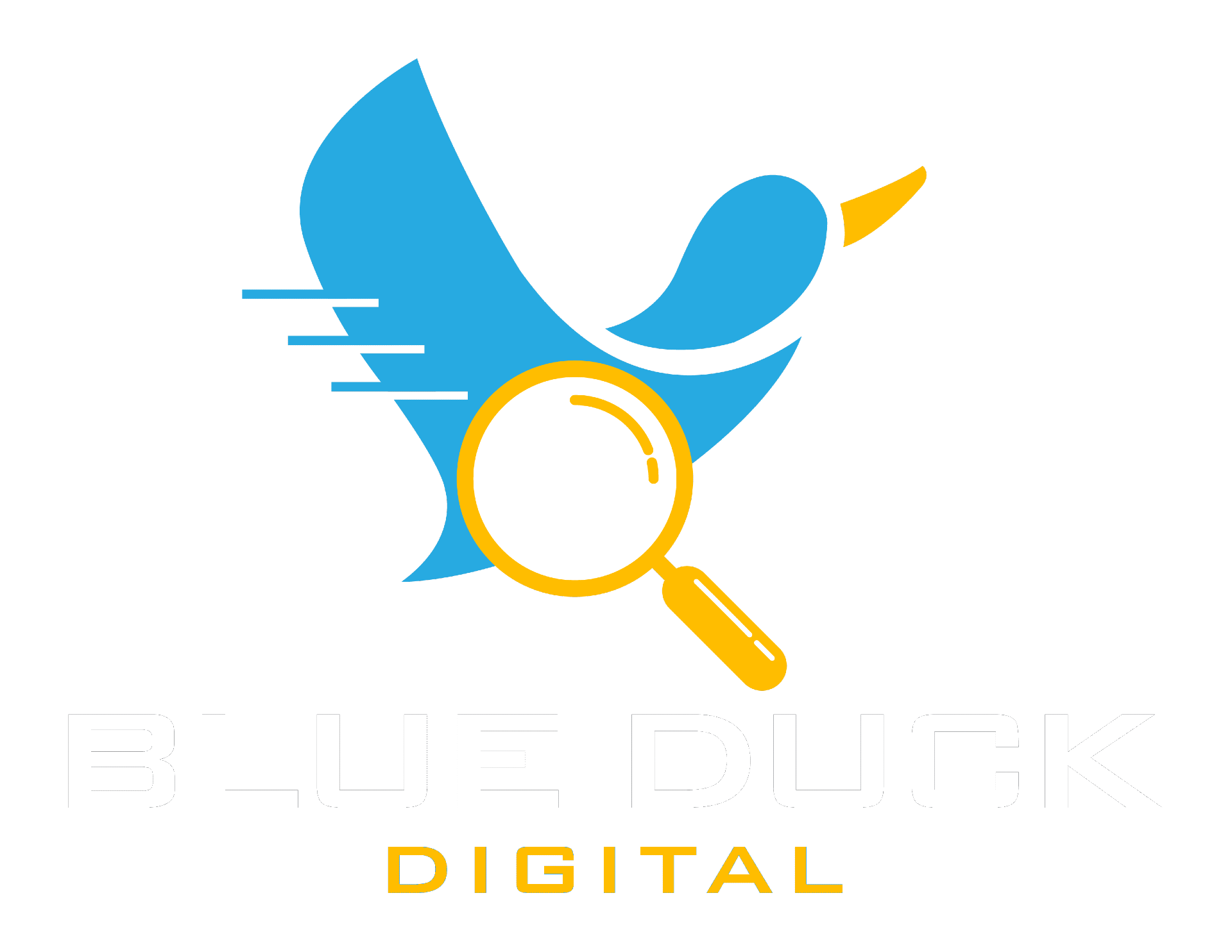 Blue Duck Logo White